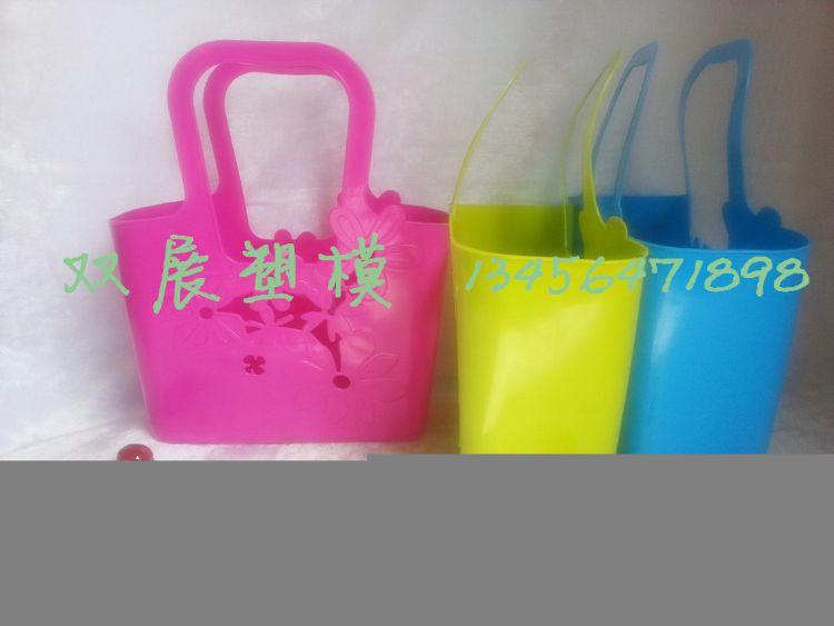 手提篮塑料 现货批发花朵形状塑料提篮 超市热卖手提篮