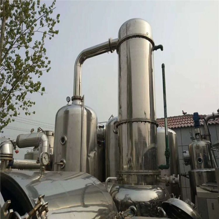 厂家出售二手三效蒸发器 四效蒸发器 外循环浓缩蒸发器