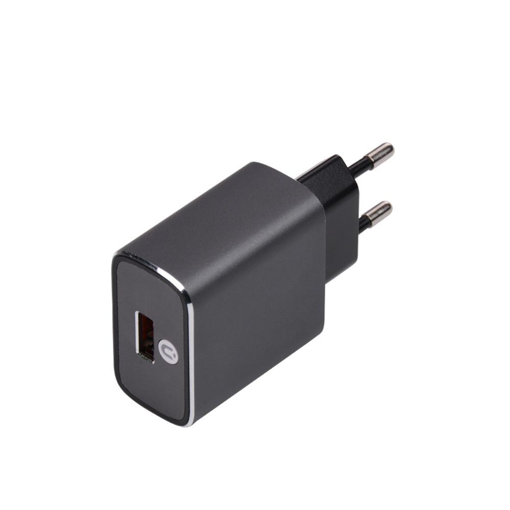 高通PI协议充电器 qc3.0充电器 铝合金CE认证旅充 QC3.0快充直充
