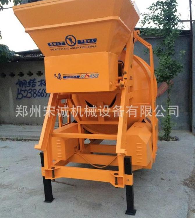八轮驱动混凝土搅拌机可移动式搅拌机建筑专用设备
