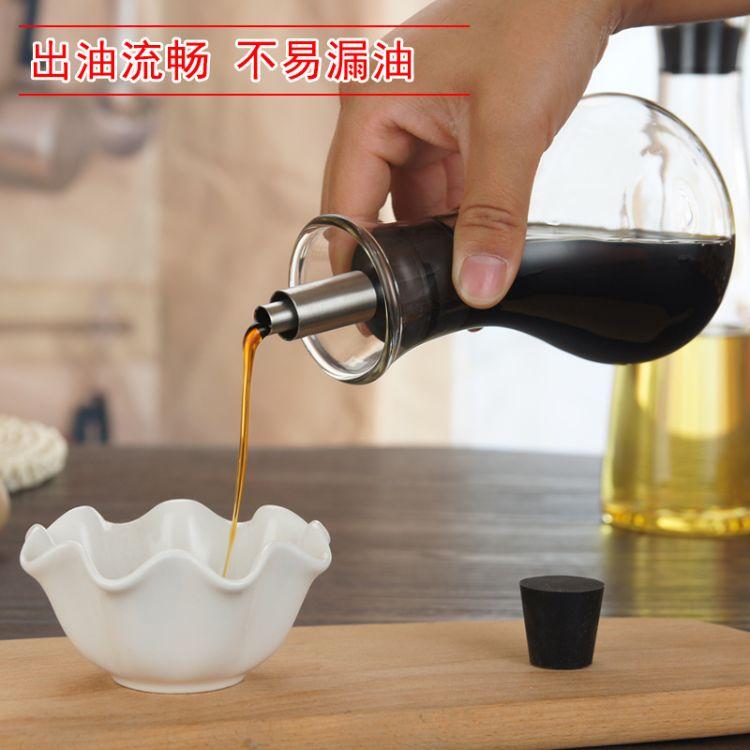 厂家供应玻璃防漏控油壶酱油香油醋瓶厨房用品耐腐蚀油瓶可定制