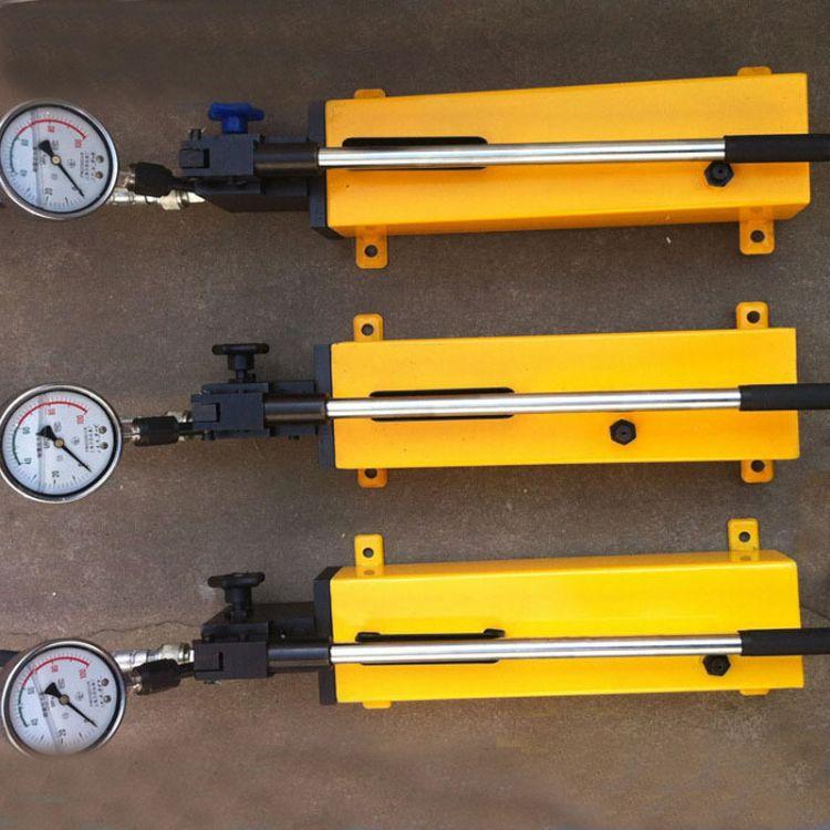 手动油泵 德州手动液压泵 液压柱塞泵 鼎鑫专业生产超高压手动泵
