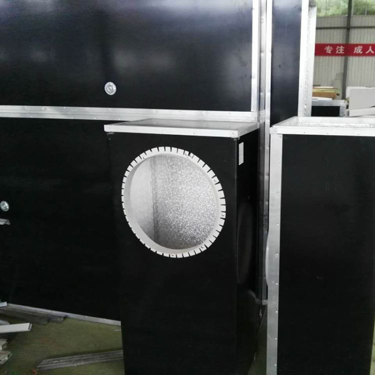 厂家直销地铁用酚醛风管黑色彩钢酚醛复合风管板