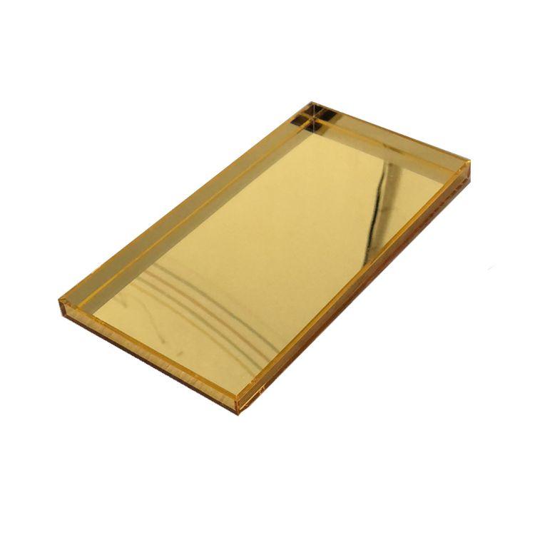 【源头厂家】定制金色镜面亚克力盒子 镜面亚克力展示架