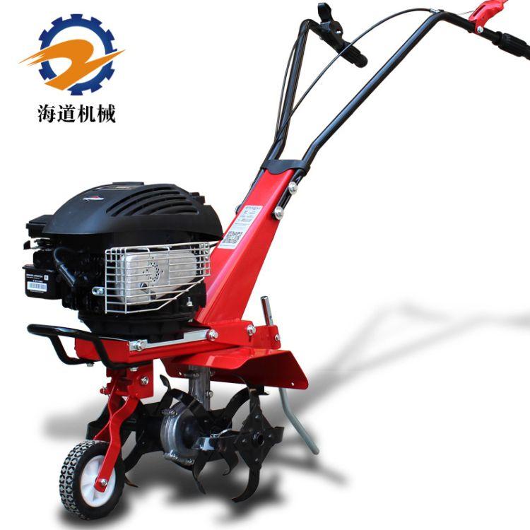 【海道】小型园林农用松土机百力通动力5.25马力旋耕机微耕机
