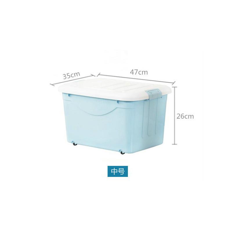 收纳箱大号 整理箱塑料 轮滑收纳箱 整理箱PP玩具箱logo赠品箱