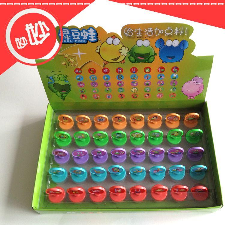 厂家直销DIY玩具印章 儿童塑料字母数字英文印章 益智玩具印章