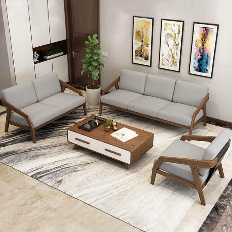 实木沙发布艺 客厅白蜡木实木沙发 供应简约拆装沙发 厂家直销