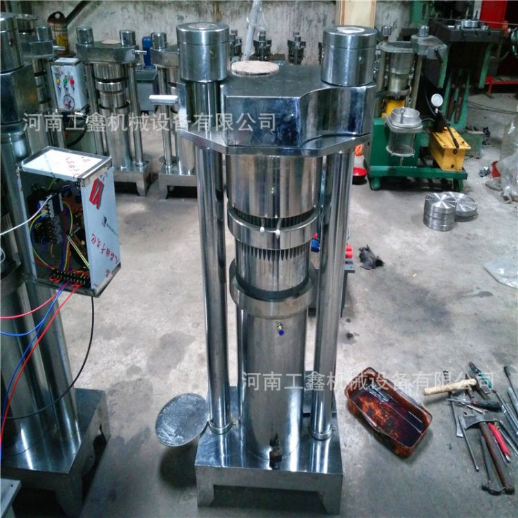移动式液压香油机 芝麻花生香油机 现榨现卖小磨香油机