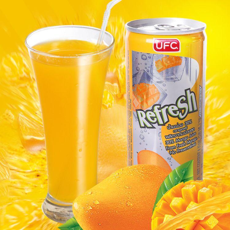 泰国进口 UFC芒果汁饮品饮料瓶装听装一箱共30瓶