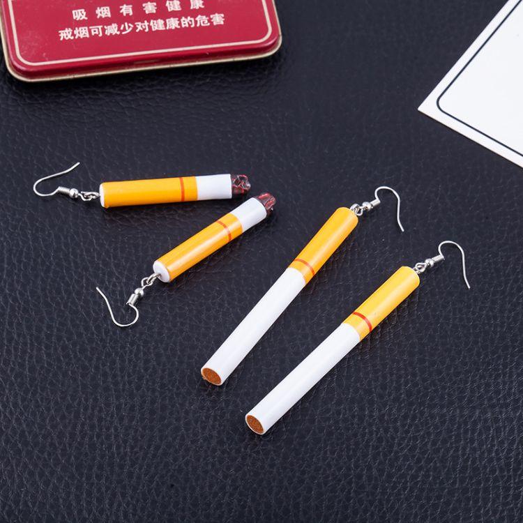 新款熱賣 原宿復古搞怪個性逼真煙頭趣味耳環韓國潮人氣質耳墜女