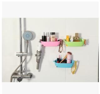 创意多用途沥水厨房收纳架浴室吸壁式杂物收纳整理架卫生间置物架