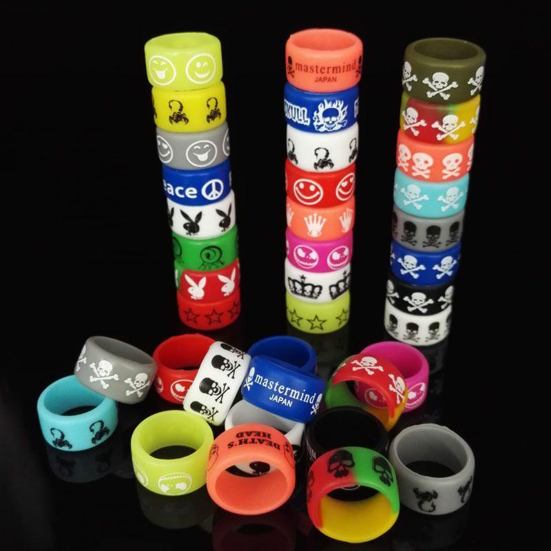 电子烟硅胶防滑装饰环电子烟丝印版硅胶圈 防滑圈 逼格环批发