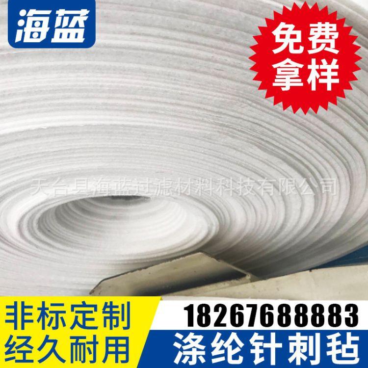 厂家供应涤纶针刺毡布 涤纶过滤布 工业除尘过滤材料批发