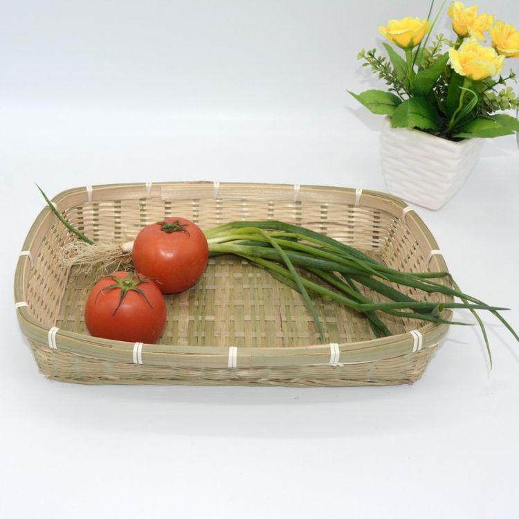 定制特色长方形托盘 纯手工编织托盘 鸡蛋篮装饰船篮家用