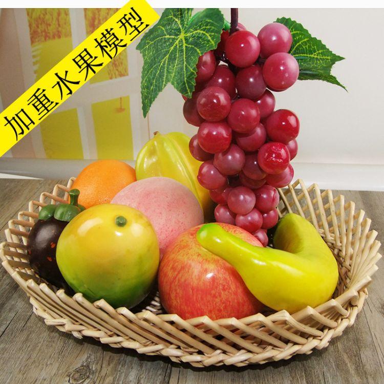(厂家直销)塑料泡沫加重水果蔬菜模型装饰摆件道具批发仿真水果