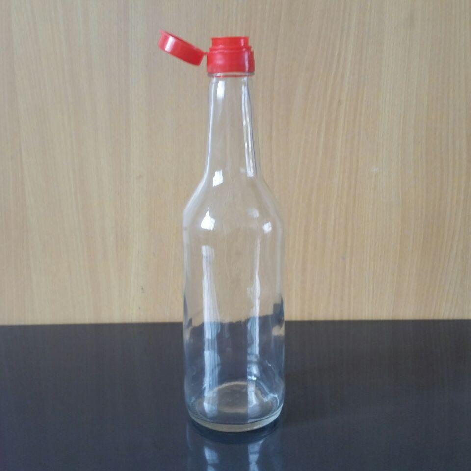 500ml海天酱油瓶 醋瓶玻璃  麻油瓶 家用酱油瓶调料瓶玻璃瓶