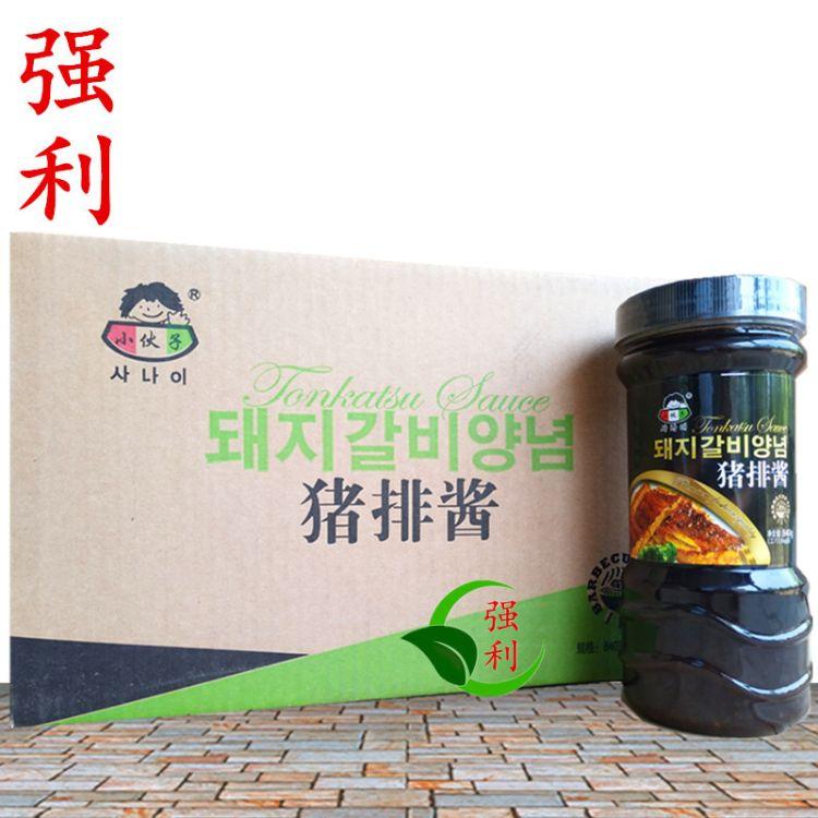 韩式烤肉酱 小伙子烤猪排酱 腌肉酱 840g*12瓶箱 整箱批发