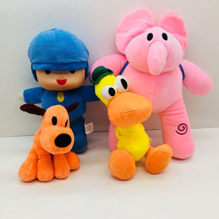 卡通Pocoyo 小P优优毛绒娃娃玩具公仔优优软塑胶玩具