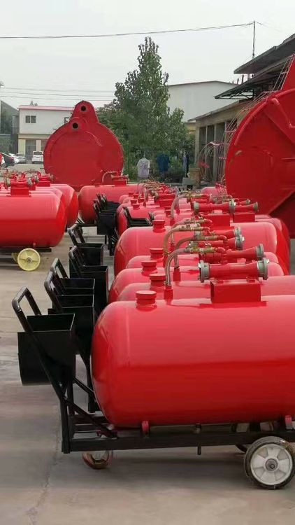 全国质保PY4200半固定式泡沫灭火装置,泡沫推车罐,灭火器罐