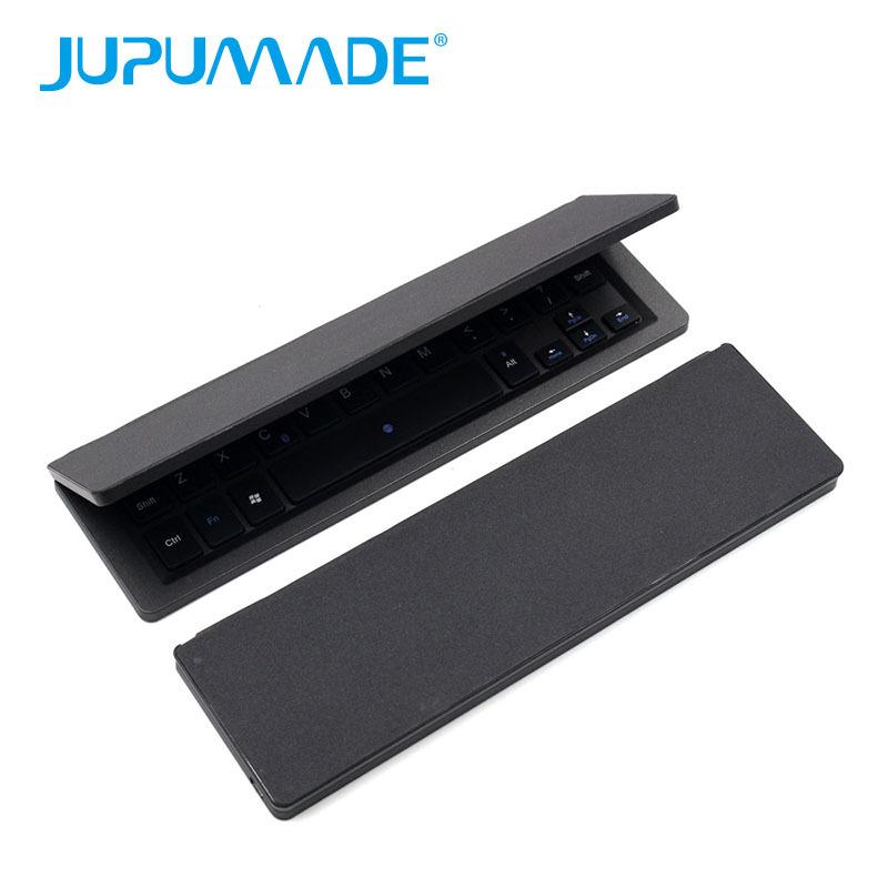 智能折叠蓝牙键盘 对折无线蓝牙键盘自带开关电源 蓝牙键盘厂家