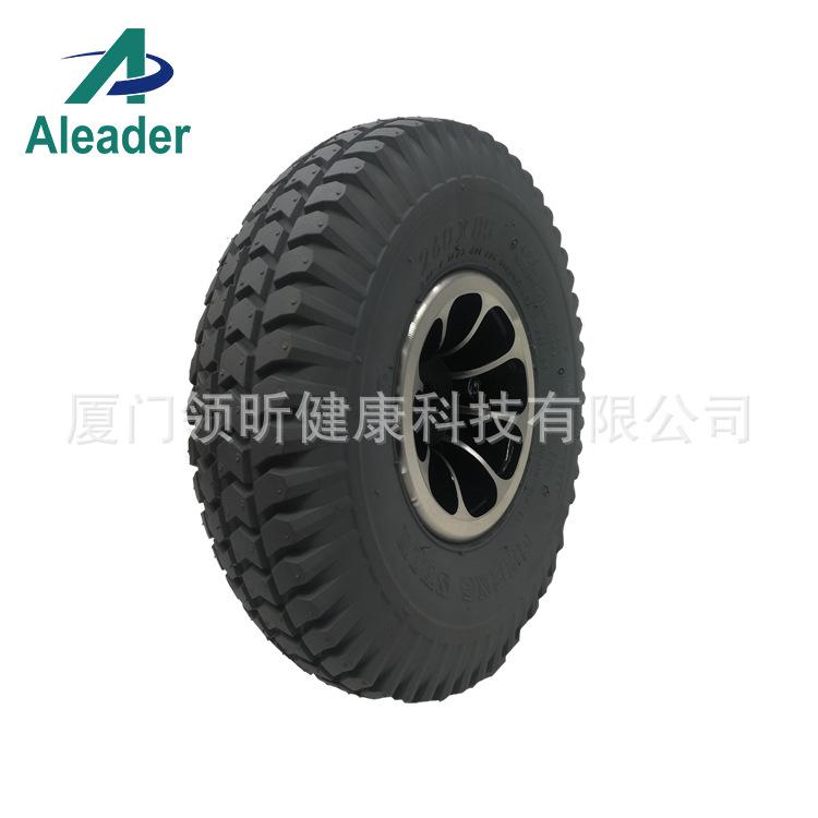 10寸实心轮胎 轮椅轮子PU橡胶填充轮胎 代步车配件 Solid Tire