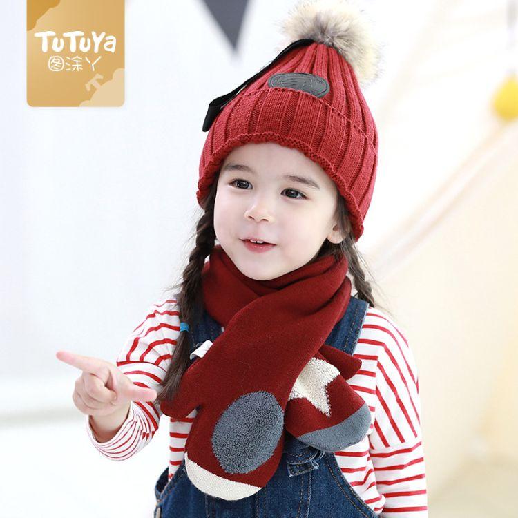 兒童圍巾秋冬季1-8歲男童女童柔軟可愛小孩寶寶圍脖厚保暖韓版潮