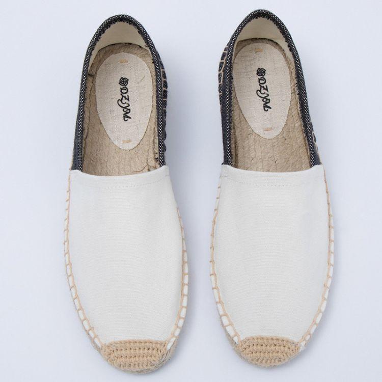 厂家直销新款低帮休闲帆布鞋 时尚草编麻底女鞋 吸汗透气除臭女鞋