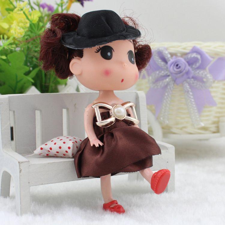 迷糊娃娃批发卡通花束公仔洋娃娃女孩子小姑娘玩具烘焙蛋糕小娃娃