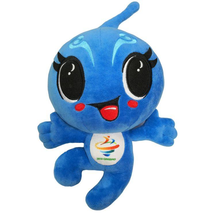 工厂OEM定制毛绒玩具公司吉祥物运动会吉祥物公仔玩具礼品