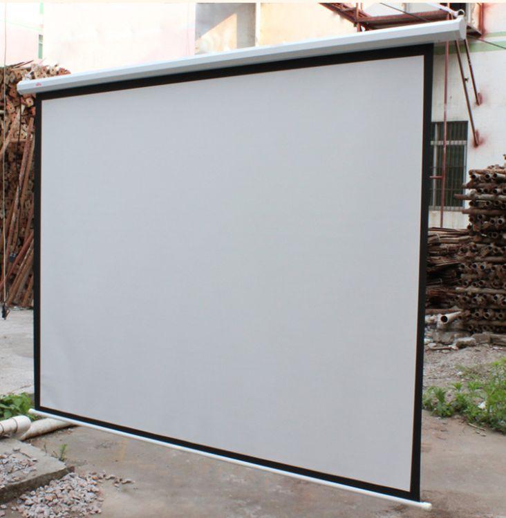 120英寸4-3 电动幕布电动屏幕高清银幕投影屏幕投影幕