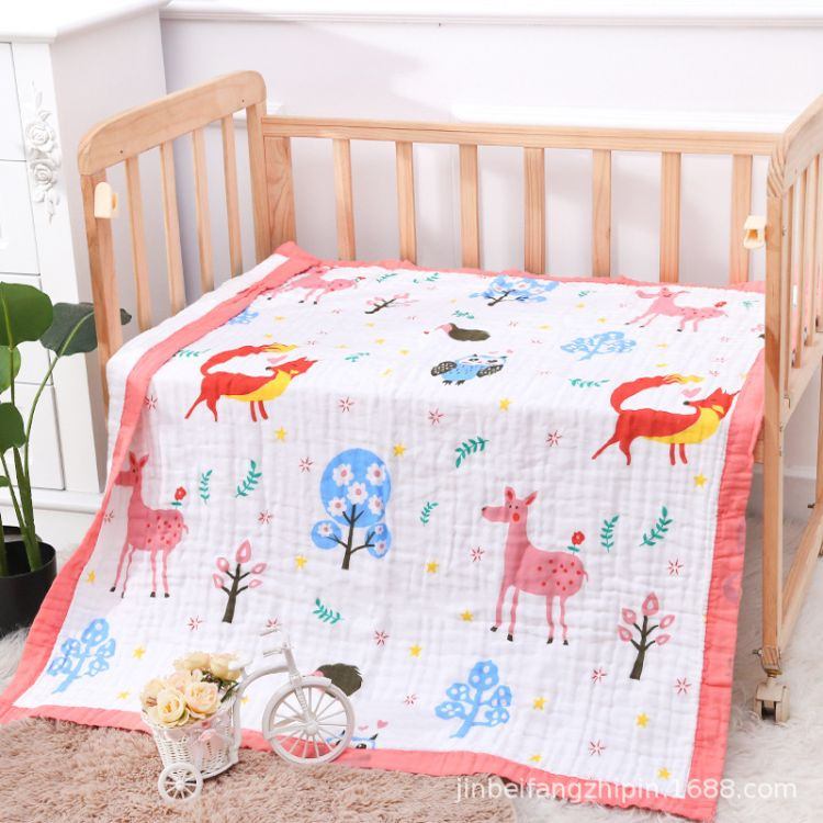 ins爆款6层纱布纯棉婴儿毯 新生儿童被 婴儿 浴巾婴儿用品批发6