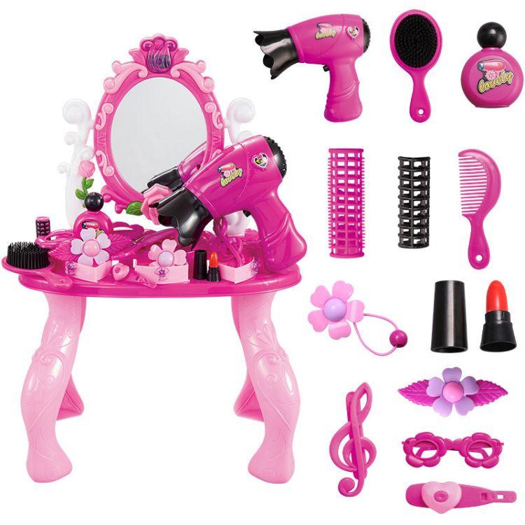 儿童过家家女孩公主化妆台玩具套装化妆梳妆台 安全孩子益智玩具