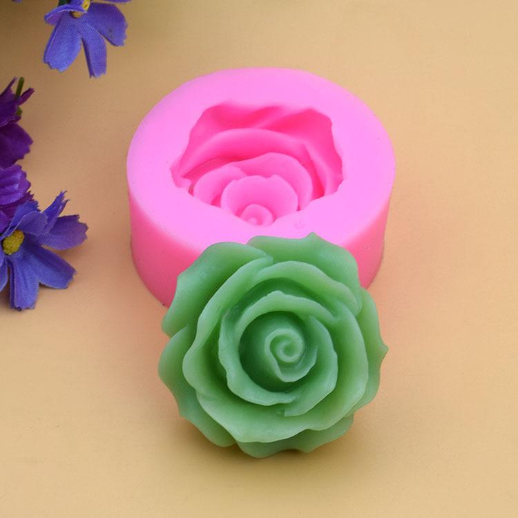 批发玫瑰花造型液态翻糖蛋糕烘焙工具DIY巧克力模具粘土工艺品模