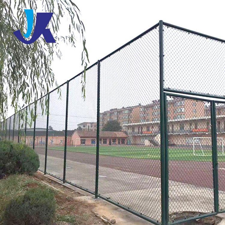 【球场护栏】供应学校操场球场护栏定制PVC勾花隔离防护球场护栏