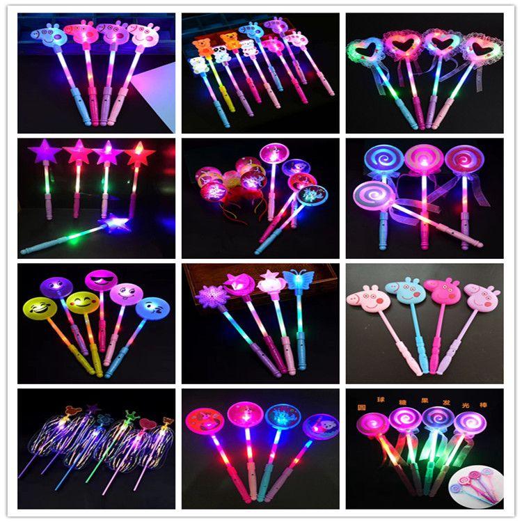发光仙女棒闪光魔仙棒舞会表演道具爱心魔法棒棒糖 夜市发光玩具