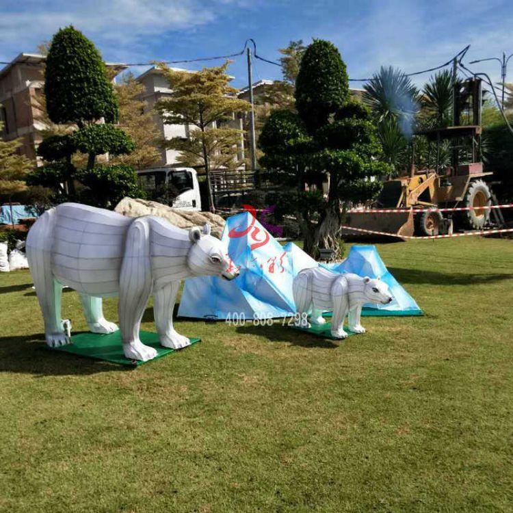 圣诞节花灯制作 户外主题公园花灯展览 大型花灯灯会制作布置斑马鹿