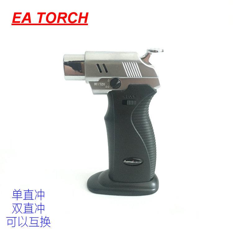 奥麦AM276便携塑料直冲防风充气打火机焊接雪茄艾灸高温小焊枪