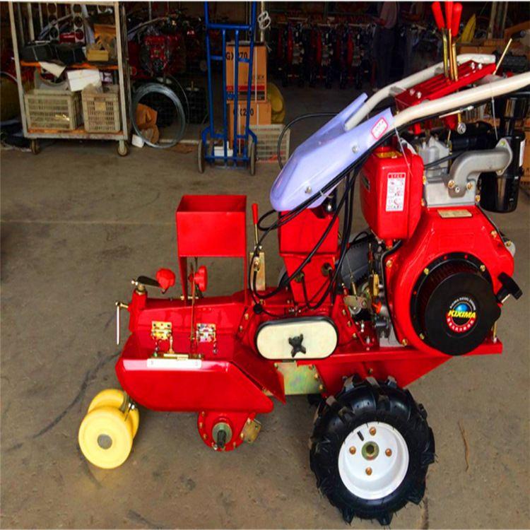 手扶自走式四驱微耕机 6-10马力小型手扶田园管理机 施肥回填机