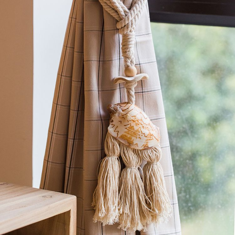 初夏天然贝壳窗帘绑带挂饰家居装饰摆件手工艺术法式地中海