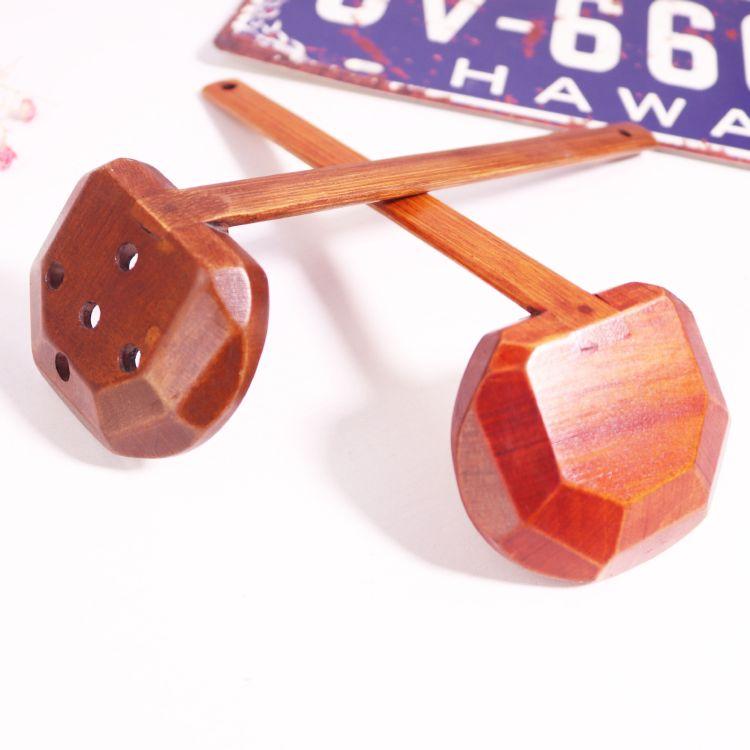 创意定制logo勺子老漆长柄木质汤勺批发餐馆专用漏勺火锅勺龟甲勺