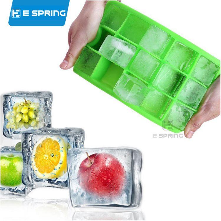 厂家直销 硅胶15格冰格 儿童辅食盒硅胶模具 制冰盒冰格模具批发