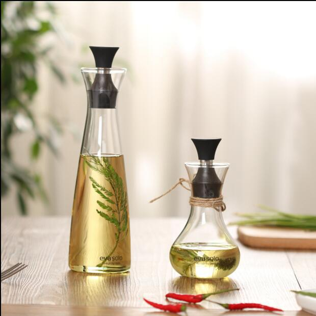 创意玻璃透明油壶防漏油瓶调味瓶醋瓶酱油瓶密封油壶