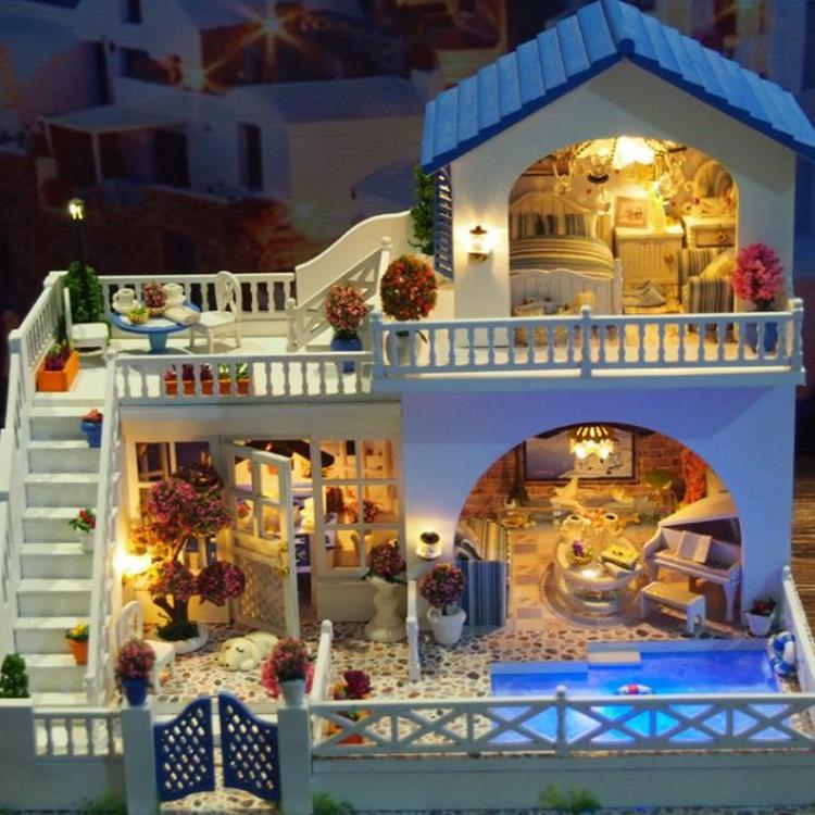 手工拼装创意礼物diy小屋(A003)浪漫之旅木质工艺模型玩具现批