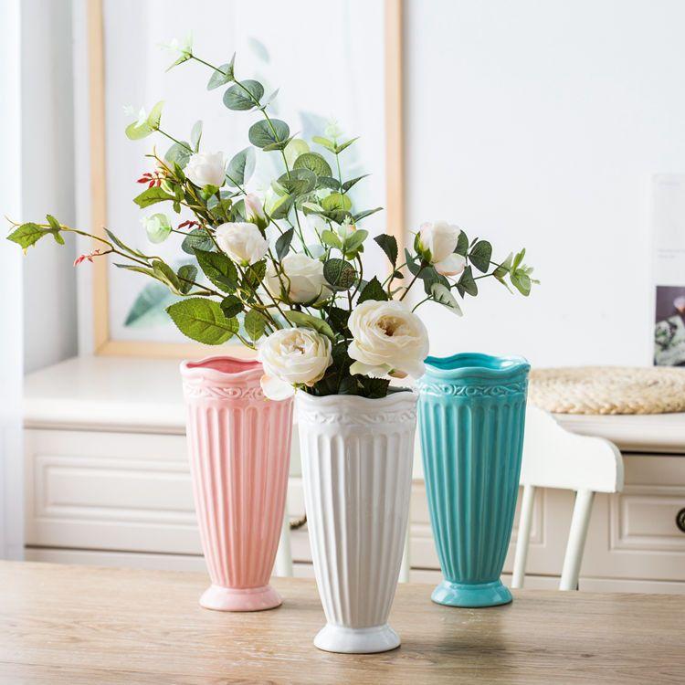花瓶 高脚杯艺术造型花瓶家居餐桌客厅办公室陶艺装饰摆件陶瓷花