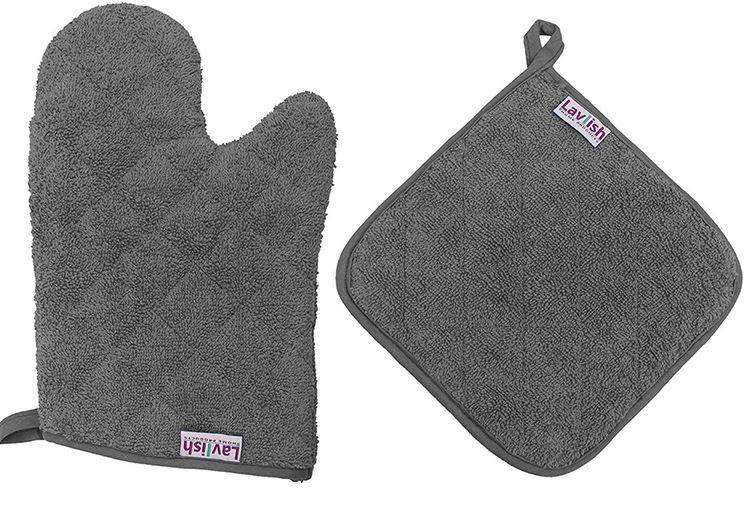 微波炉手套三件套绗缝工艺全棉隔热防烫锅垫 微波炉隔热垫防烫手