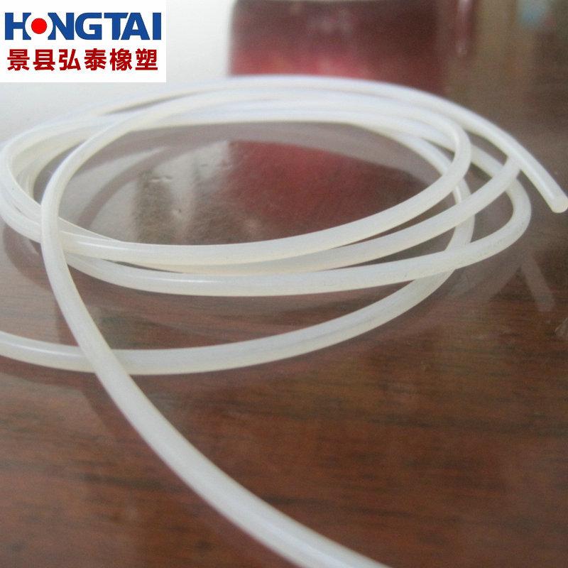 现货硅胶制品 圆形实心硅胶条 圆形乳白色硅胶件 圆形白色硅胶条