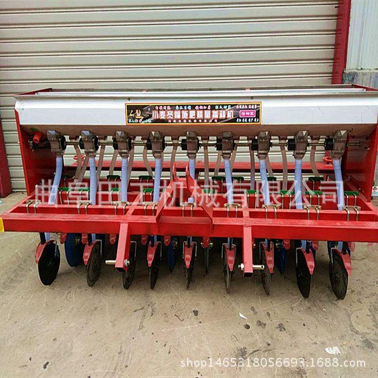 精工新型小麦播种机 拖拉机多功能播种机 小型拖拉机小麦播种机