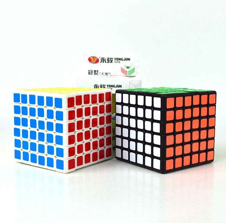 永骏YJ9513冠世六阶魔方YJ 6阶顺滑魔方益智玩具 便宜高阶魔方