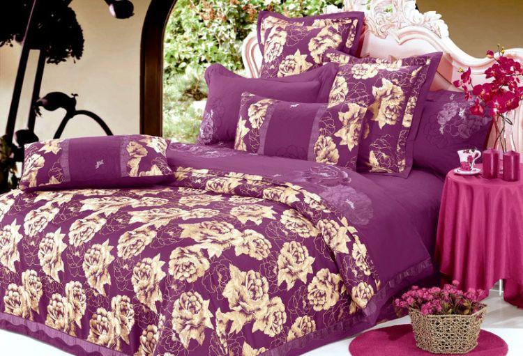 全棉贡缎大提花 纯棉活性斜纹床上用品四件套厂家批发 南通家纺